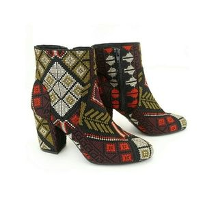 Tapestry Embroidered Booties